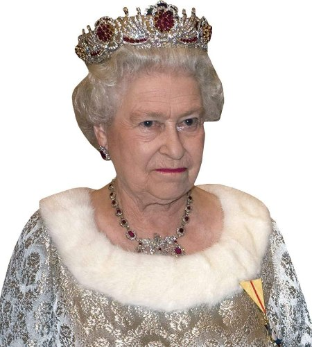HRH The Queen (Silver) Cardboard Buddy Cutout