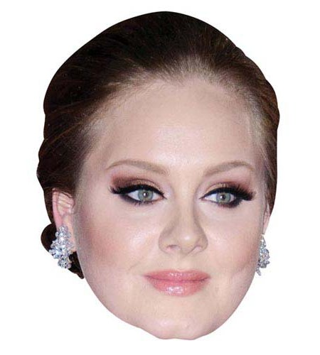 A Cardboard Celebrity Mask of Adele