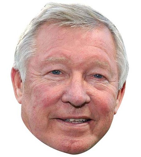 A Cardboard Celebrity Mask of Alex Ferguson