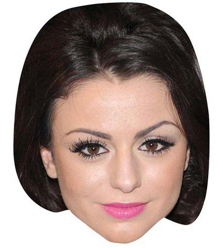 A Cardboard Celebrity Mask of Cher Lloyd
