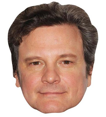 A Cardboard Celebrity Mask of Colin Firth