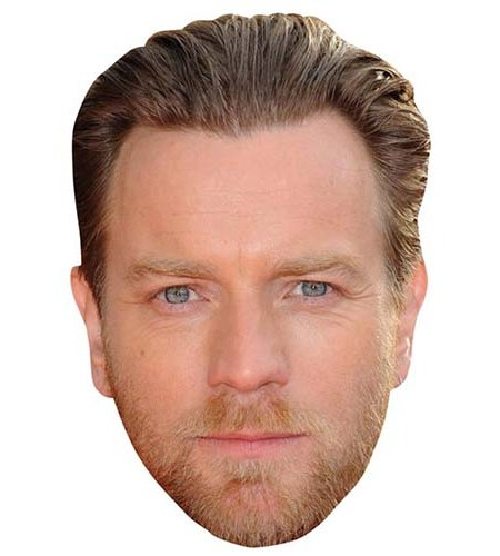 A Cardboard Celebrity Mask of Ewan McGregor