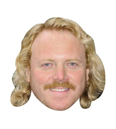A Cardboard Celebrity Mask of Keith Lemon