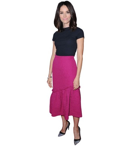 A Lifesize Cardboard Cutout of Abigail Spencer wearing a skirt