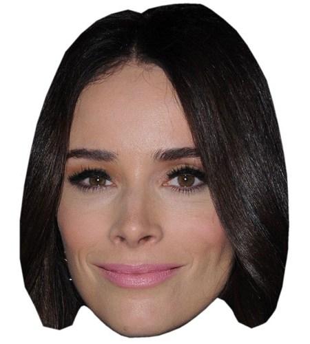 A Cardboard Celebrity Mask of Abigail Spencer