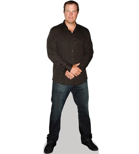 A Lifesize Cardboard Cutout of Adam Baldwin wearing jeans