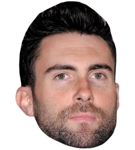 A Cardboard Celebrity Mask of Adam Levine
