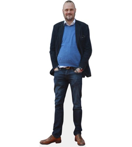 A Lifesize Cardboard Cutout of Al Murray wearing jeans