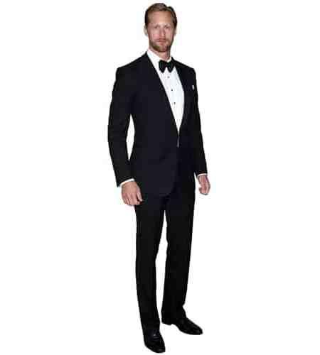 A Lifesize Cardboard Cutout of Alexander Skarsgard wearing a dinner suit