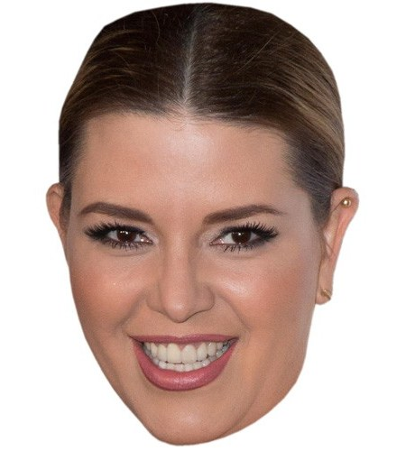A Cardboard Celebrity Mask of Alicia Machado