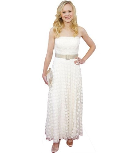 A Lifesize Cardboard Cutout of Alison Pill wearing a dress