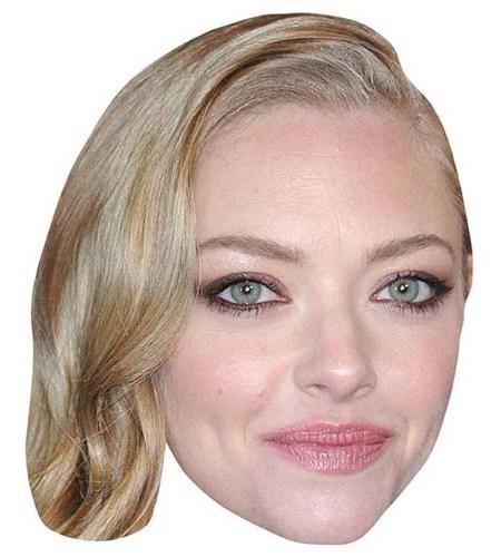 A Cardboard Celebrity Mask of Amanda Seyfried