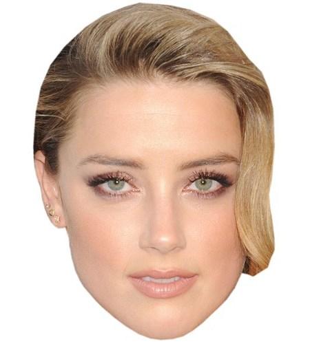 A Cardboard Celebrity Mask of Amber Heard