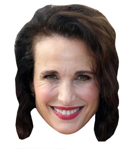 A Cardboard Celebrity Andie McDowell Mask