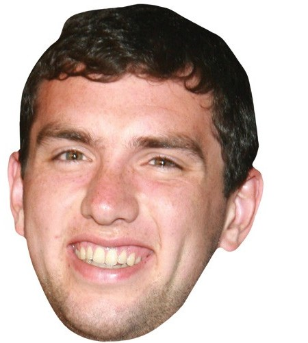 A Cardboard Celebrity Mask of Andrew Luck