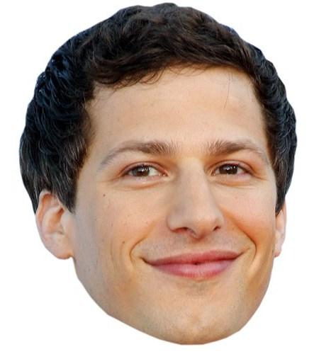 A Cardboard Celebrity Mask of Andy Samberg