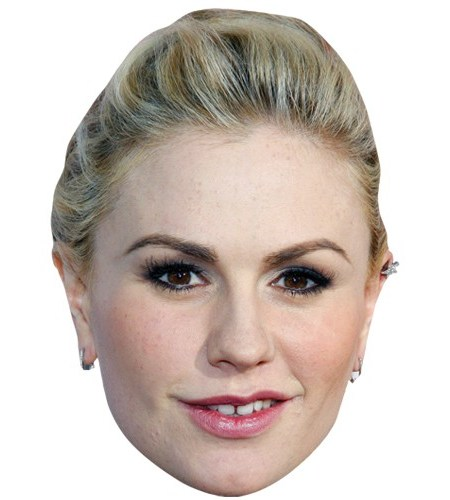 A Cardboard Celebrity Mask of Anna Paquin