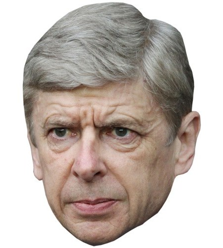 A Cardboard Celebrity Mask of Arsene Wenger