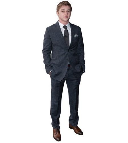 A Lifesize Cardboard Cutout of Ben Hardy wearing a suit