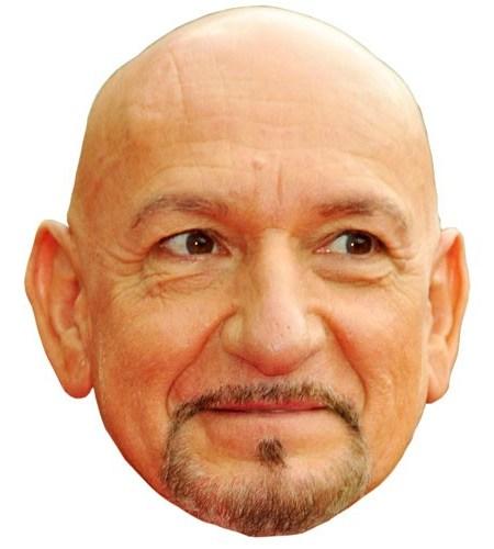 A Cardboard Celebrity Ben Kingsley Mask