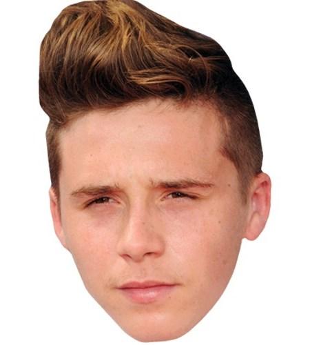 A Cardboard Celebrity Mask of Brooklyn Beckham