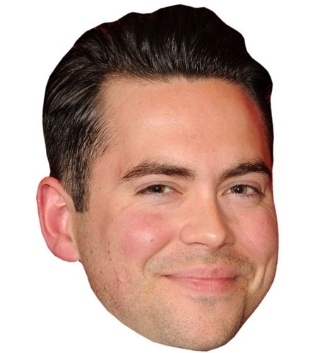 A Cardboard Celebrity Mask of Bruno Langley