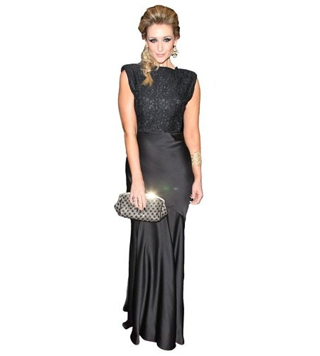 A Lifesize Cardboard Cutout of Catherine Tydesley wearing black