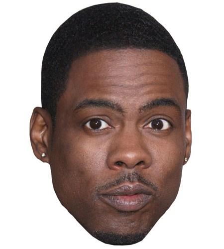 A Cardboard Celebrity Mask of Chris Rock
