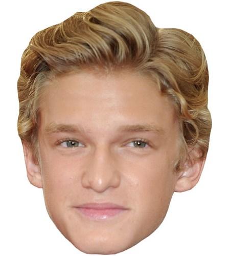 A Cardboard Celebrity Mask of Cody Simpson