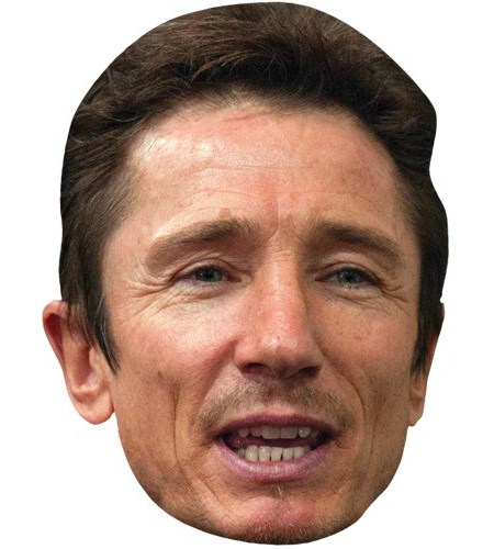 A Cardboard Celebrity Mask of Dominic Keating