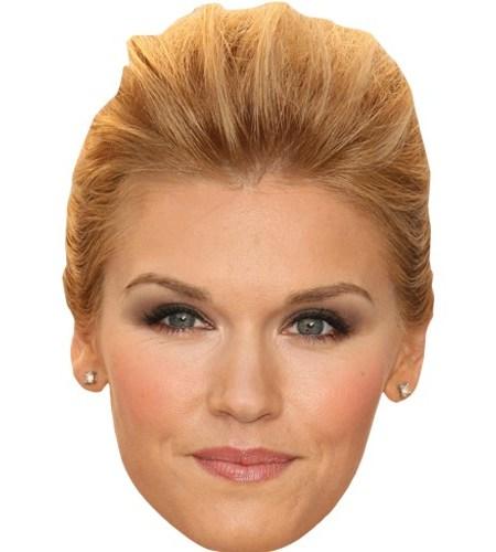 A Cardboard Celebrity Mask of Emily Rose