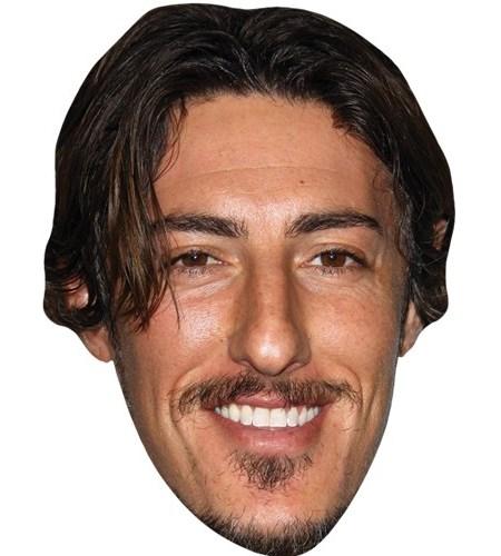 A Cardboard Celebrity Mask of Eric Balfour
