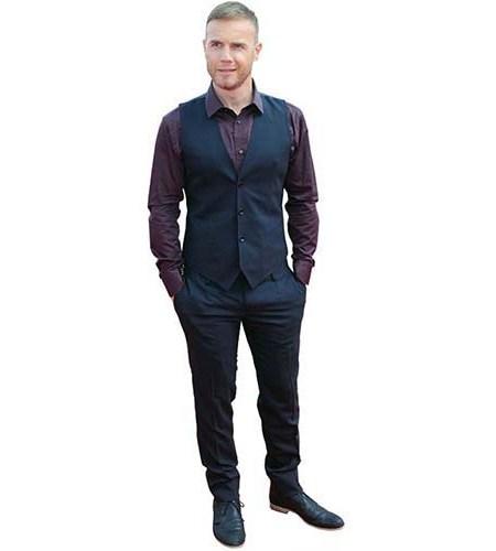 A Lifesize Cardboard Cutout of Gary Barlow wearing a waistcoat