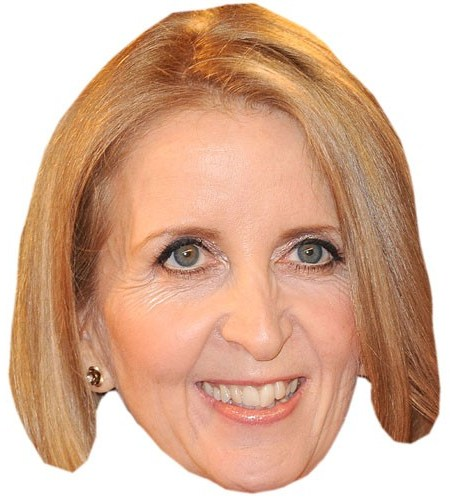 A Cardboard Celebrity Mask of Gillian McKeith