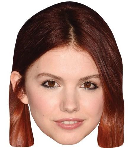 A Cardboard Celebrity Mask of Hannah Murray