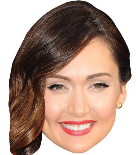 A Cardboard Celebrity Mask of Jessica Chobot