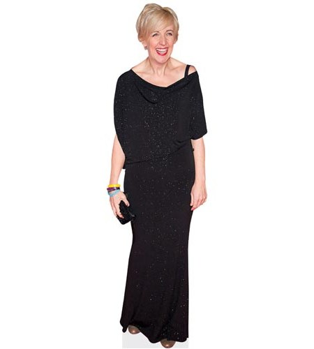 A Lifesize Cardboard Cutout of Julie Hesmondhalgh wearing black