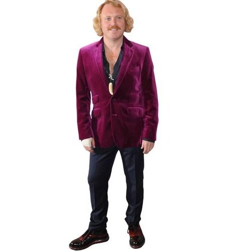 A Lifesize Cardboard Cutout of Keith Lemon wearing a purple suit