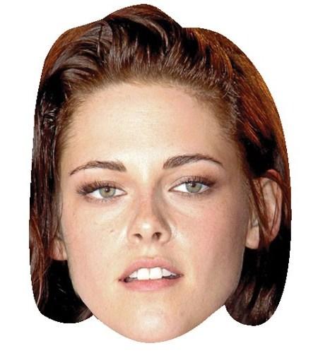 A Cardboard Celebrity Mask of Kristen Stewart