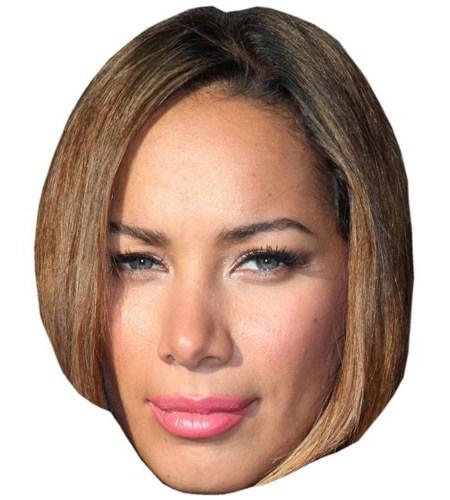 A Cardboard Celebrity Mask of Leona Lewis