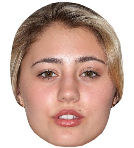 A Cardboard Celebrity Mask of Lia Marie Johnson