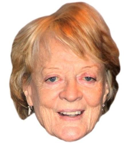 A Cardboard Celebrity Maggie Smith Mask