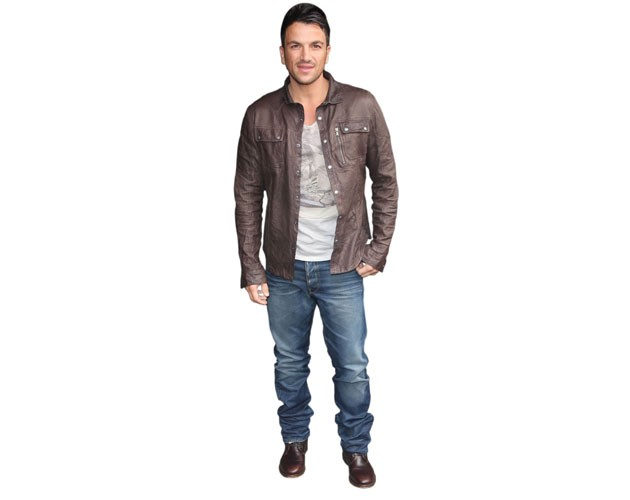 Peter Andre Brown Jacket Life Size Cutout