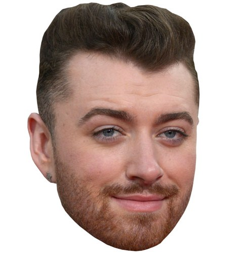 A Cardboard Celebrity Mask of Sam Smith