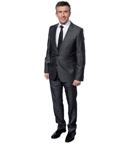 A Lifesize Cardboard Cutout of Steve Coogan wearing a suit