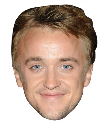A Cardboard Celebrity Mask of Tom Felton