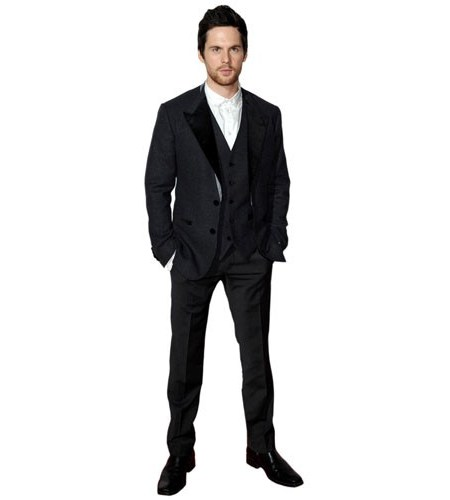 A Lifesize Cardboard Cutout of Tom Riley wearing a suit