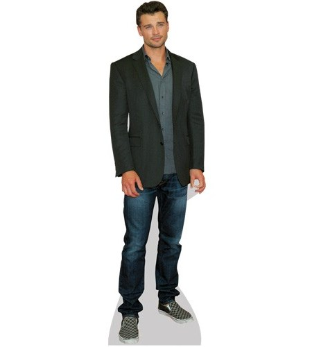 A Lifesize Cardboard Cutout of Tom Welling wearing jeans