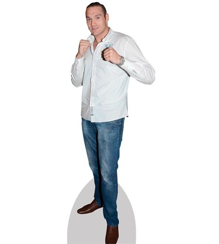 A Lifesize Cardboard Cutout of Tyson Fury wearing jeans