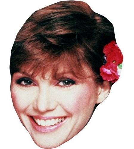 A Cardboard Celebrity Mask of Victoria Principal